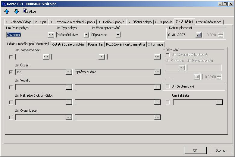 Formular Karty Majetku Majetek Asseco Solutions